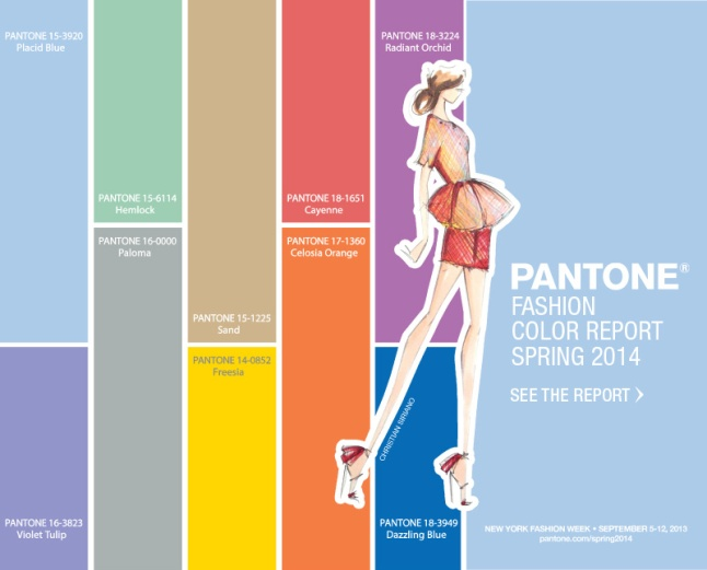 Top Colors for Women's Fashion for Spring 2014