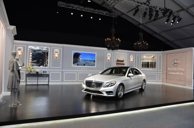 2014 S-Class Sets New Standards At Mercedes-Benz Fashion Week.  (PRNewsFoto/Mercedes-Benz USA)