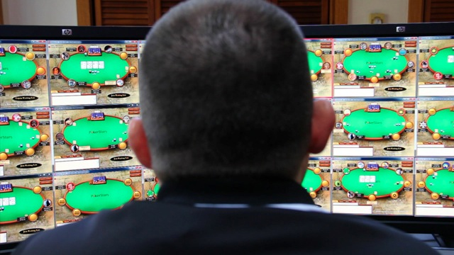 Online poker player in a scene from the film 'DRAWING DEAD' premiering exclusively on the series SOMETHING TO TALK ABOUT on DirecTV's Audience network.