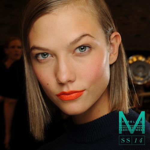 Orange lips at DKNY