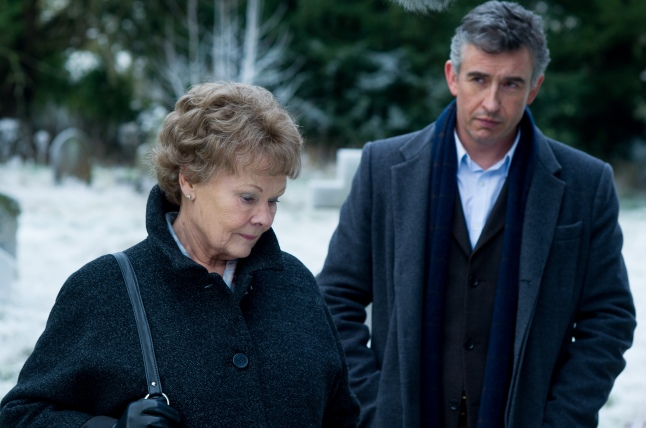 Stephen Frears' PHILOMENA, the true story of one woman's search for her lost son, starring Judi Dench and Steve Coogan