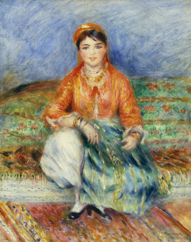Pierre-Auguste Renoir (French, 1841-1919), Algerian Girl, 1881. Oil on canvas, 20 x 16 in. Museum of Fine Arts, Boston, Juliana Cheney Edwards Collection, 39.677