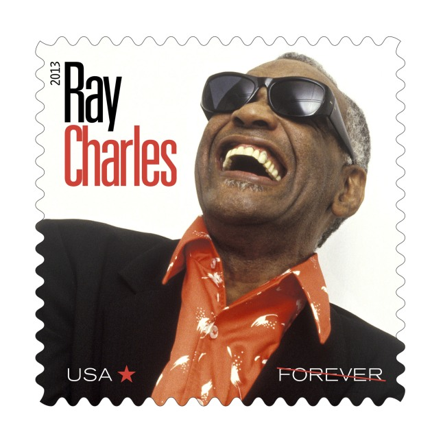 Postal Service Inducts Ray Charles into Music Icons Stamp Series.  (PRNewsFoto/The Postal Service)