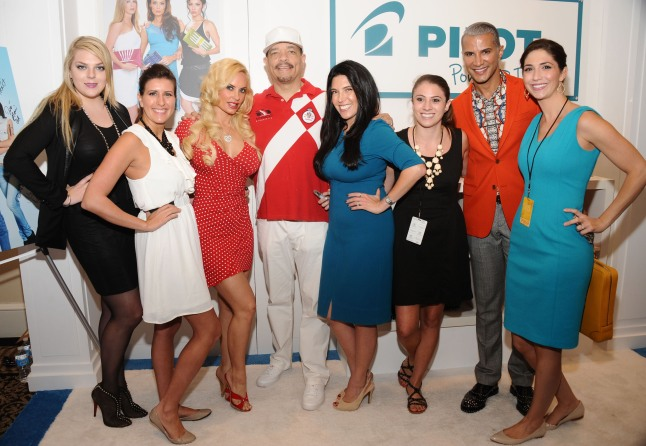 """""""Ice-T, Coco Austin, and Jay Manuel visit GBK and Sparkling Hill Luxury Style Lounge at New York Fashion Week at the Empire Hotel."""""""