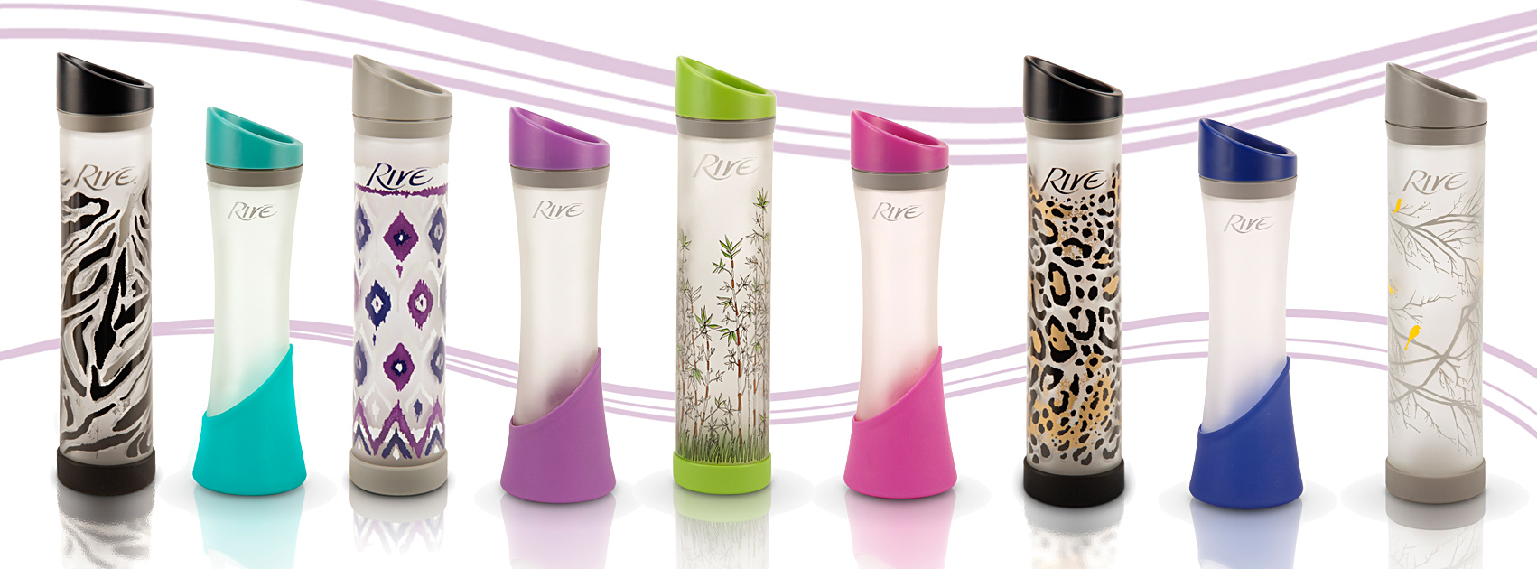 Rive Usa Family Of Water Bottle The Elan Savoy Designer Series And The Lynx Fashion Lifestyle