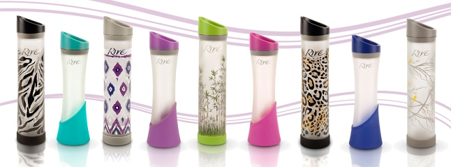 Rivé USA Family of Water Bottle - The Elan, Savoy Designer Series and The Lynx