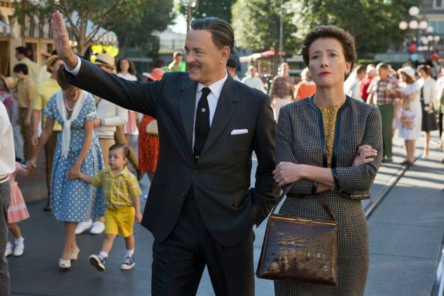 """SAVING MR. BANKS"" Walt Disney (Tom Hanks) shows Disneyland to ""Mary Poppins"" author P.L. Travers (Emma Thompson) in Disney's ""Saving Mr. Banks,"" releasing in U.S. theaters limited on December 13, 2013 and wide on December 20, 2013. Ph: François Duhamel ©Disney Enterprises, Inc.  All Rights Reserved."