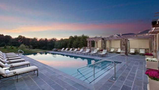 The pool area at the Salamander Resort & Spa