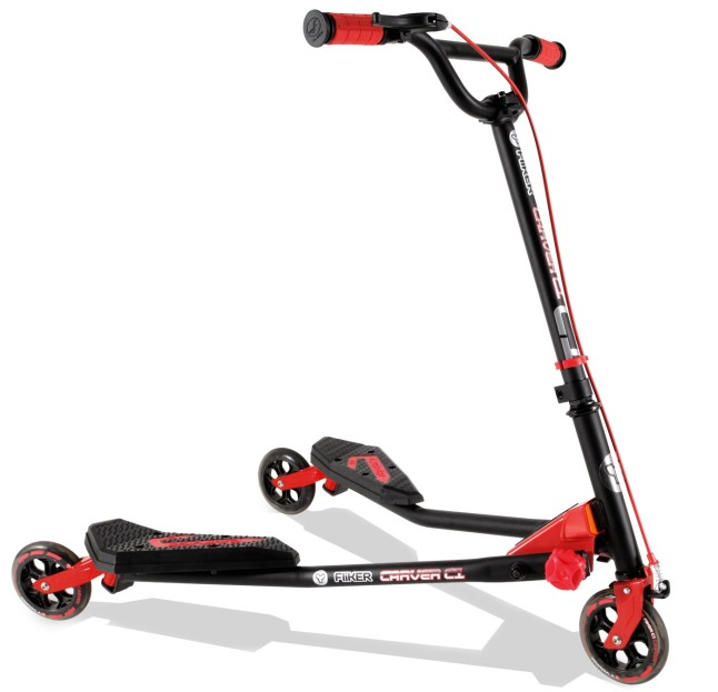 Y Fliker™ Carver Scooter (red) from Yvolution™
