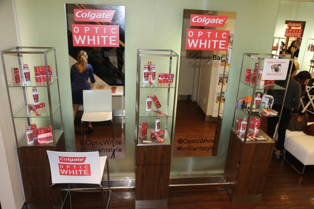 The Colgate Optic White Beauty Bar at Salon Ziba on September 9, 2013 in New York City.