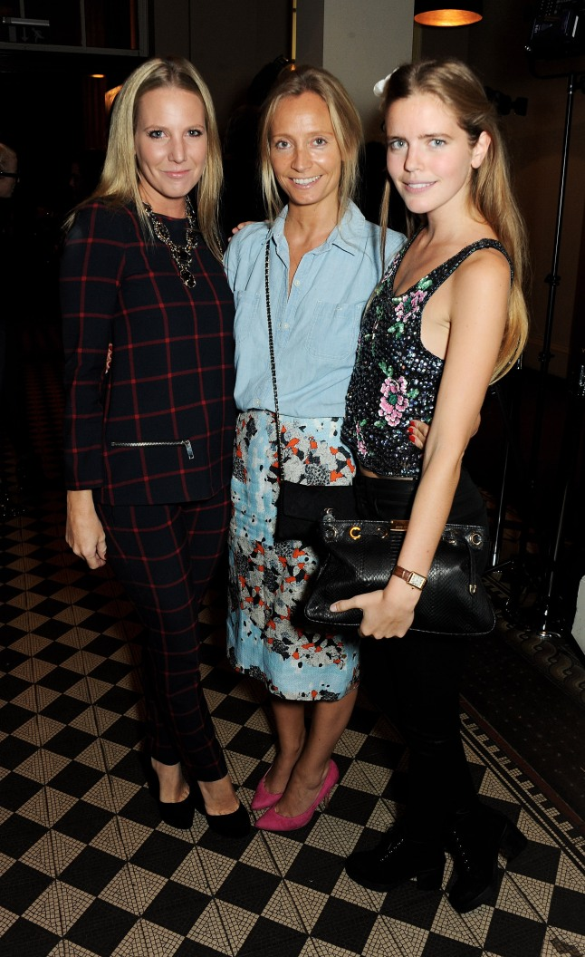 LONDON, ENGLAND - OCTOBER 02: Alice Naylor-Leyland, Martha Ward and Katie Readman attend the Vertu launch of the new Constellation smartphone at One Mayfair on October 2, 2013 in London, England. (Photo by David M. Benett/Getty Images for Vertu)