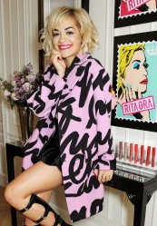 Rita Ora at  Photo-Call October 10, before the Party to celebrate rimmel London 180 Years of Cool