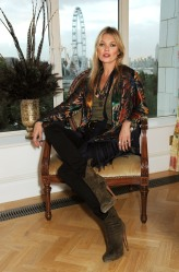 Kate Moss at  Photo-Call October 10, before the Party to celebrate rimmel London 180 Years of Cool