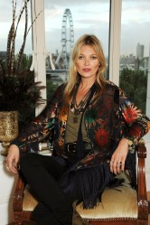 Kate Moss at  Photo-Call October 10, before the Party to celebrate rimmel London 180 Years of Cool at The Savoy Hotel in London, England.