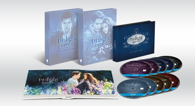 Twilight Forever: The Complete Saga Box Set on Blu-ray and DVD