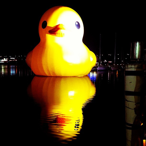 Dutch artist Florentijn Hofman's 15-metre high yellow Rubber Duck made quite the splash in Darling Harbour, so it's back for the 2014 Festival.