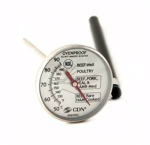 CDN ProAccurate Meat/Poultry Ovenproof Thermometer (IRM200-GLOW)