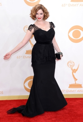 Christina Hendricks wearing a Christian Siriano design
