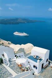 Crystal Symphony Santorini, Greece
