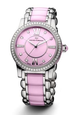 David Yurman CLASSIC(R) Women's Timepiece in Pink Ceramic.  (PRNewsFoto/David Yurman)