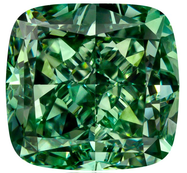 Rare 1.61-Carat Natural Fancy Vivid Green Diamond, VS1, Cushion Modified Brilliant Cut, GIA-Certified. Price available upon request; purchase includes naming rights. TheOneAndOnlyOne.com. (PRNewsFoto/One and Only One)