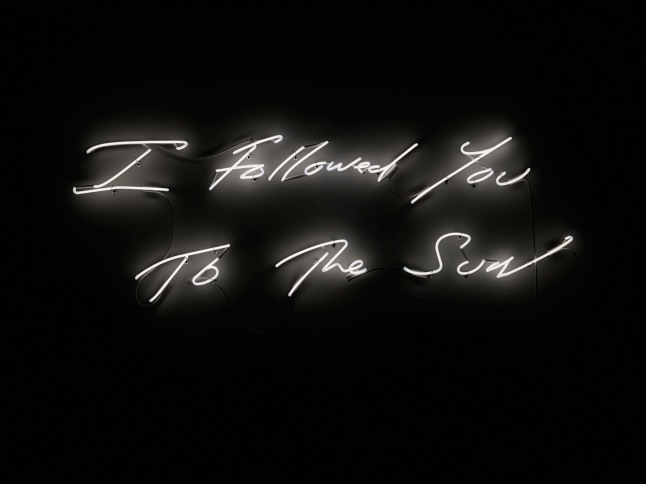 """Jacquelyn Soffer curates legendary hotel's evolving visual art collection. The latest installation Fontainebleau Miami Beach acquired includes the neon work """"I Followed You to The Sun,"""" (2013) by Tracey Emin, which will debut at the resort in December during a special event with the artist during Art Basel Miami Beach.  (PRNewsFoto/Fontainebleau Miami Beach)"""