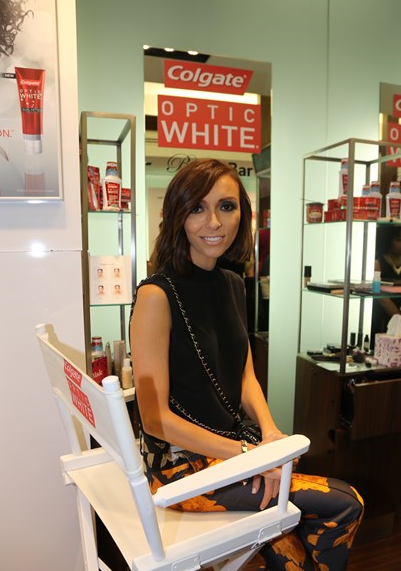 Giuliana Rancic looking perfect  at the The Colgate Optic White Beauty Bar at Salon Ziba on September 9, 2013 in New York City.