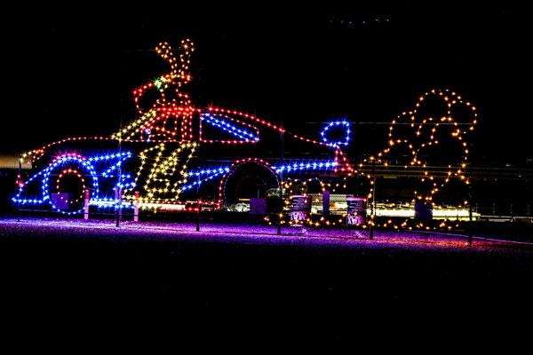 glittering-lights-car