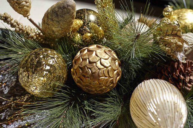 golden festive holiday celebrations