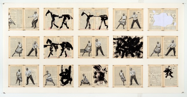 Goodman Gallery , William Kentridge with Philip Miller, Tango for Page Turning, 2013, 2'48'', Courtesy the artist and the gallery
