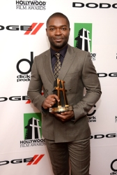 Honoree David Oyelowo poses in the press room during the 17th annual Hollywood Film Awards at The Beverly Hilton Hotel on October 21, 2013 in Beverly Hills, California.  (Photo by Jason Kempin/Getty Images)