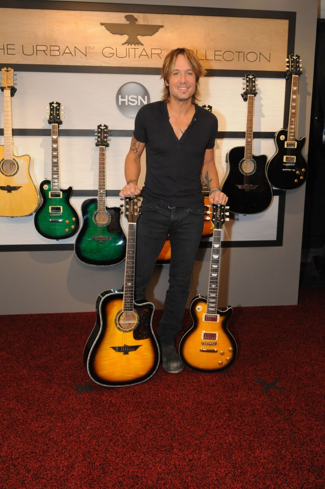 Keith Urban Announces The World Premiere Of The URBAN Guitar Collection Debuting Live On HSN November 3rd.  (PRNewsFoto/HSN)