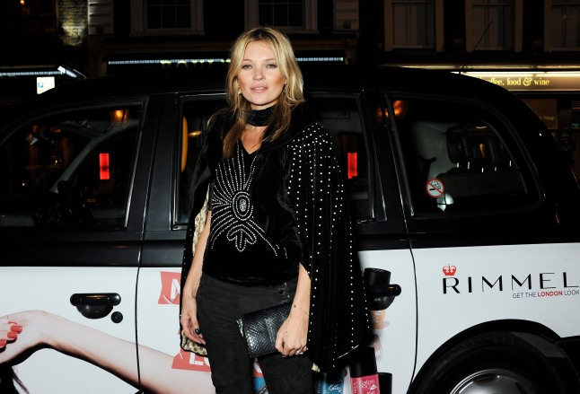 LONDON, ENGLAND - OCTOBER 10: Kate Moss arrives at the Rimmel London 180 Years of Cool party at the London Film Museum on October 10, 2013 in London, England. (Photo by David M. Benett/Getty Images for Rimmel London)