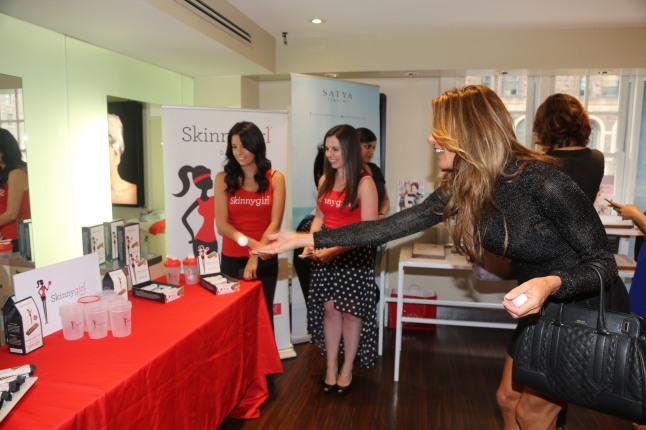 Kelly Bensimon at the The Colgate Optic White Beauty Bar at Salon Ziba on September 9, 2013 in New York City.