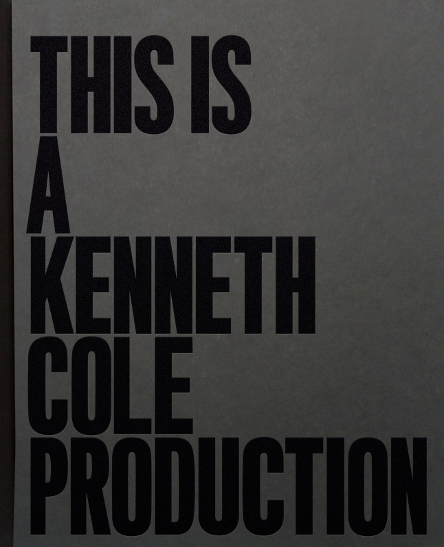 Book Cover: This is a Kenneth Cole Production.  (PRNewsFoto/Kenneth Cole)