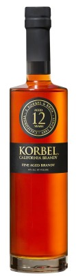 Korbel Brandy is excited to introduce Korbel 12, a limited-edition California brandy of extraordinary character. The first new Korbel Brandy in more than a decade, Korbel 12 draws on a 124-year heritage of brandy excellence to achieve the ultimate in richness, smoothness and complexity. Korbel 12's packaging is as stylish and elegant as the brandy itself; a tall, square-shouldered bottle bearing a gold-embossed black label and medallion. Just 1,800 six-bottle cases of Korbel 12 California Brandy were produced for this inaugural release. It is available in select markets at a suggested retail of $39.99.  (PRNewsFoto/Korbel Brandy)