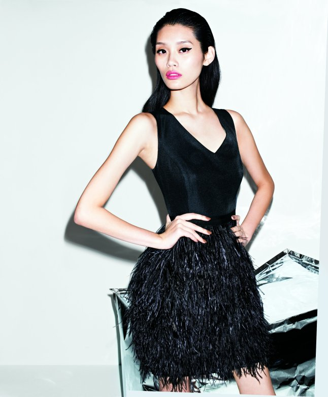 """Miss Wu """"Radiant Faille"""" feather dress, a Nordstrom exclusive, $995"""