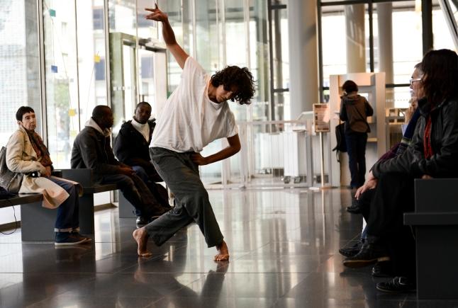 Musée de la danse. 20 Dancers for the XX Century. Dancer: Fabian Barba. Les Champs Libres Rennes (FR). 2012. Photo: Nyima Leray