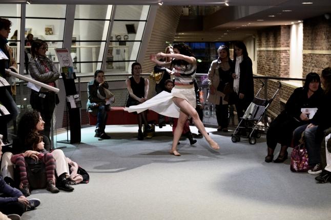 Musée de la danse. 20 Dancers for the XX Century. Dancer: Raphaëlle Delaunay. Les Champs Libres Rennes (FR). 2012. Photo: Nyima Leray