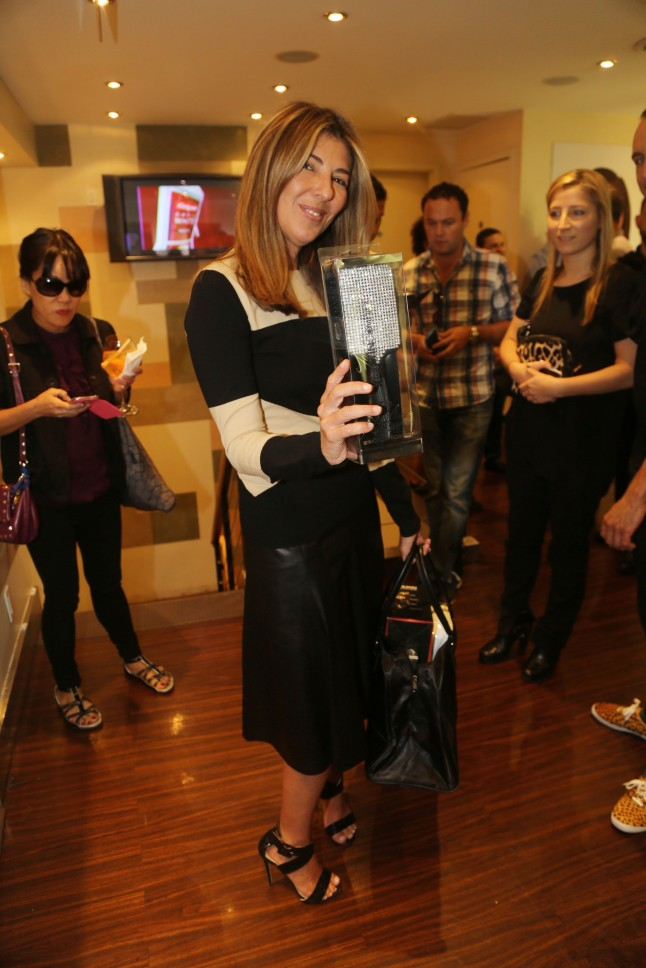 Marie Claire Fashion Director and Project Runway Judge Nina Garcia at the The Colgate Optic White Beauty Bar at Salon Ziba in New York City