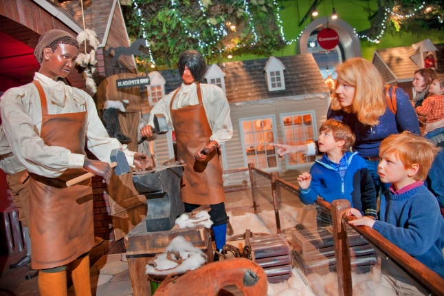Parents who remember standing in awe of the Enchanted Colonial Village at Lit Brother's department store in Philadelphia can take another peek inside the busy Blacksmith Shop, the bustling Village Store and the seven other restored scenes with their own children at the Please Touch Museum®. The intricately restored Colonial scenes captivate kids of all ages.