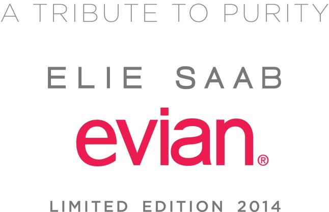 A Tribute to Purity - ELIE SAAB & evian(R) - Limited Edition 2014.  (PRNewsFoto/evian)