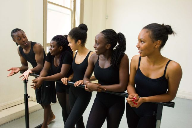 The dancers in class: Artistry Youth Dance to Promote Diversity in Dance by Encouraging Young Londoners of African and Caribbean Descent to Achieve Success in Dance