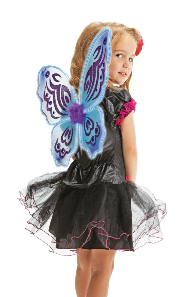 RadioShack DIY light-up costumes like these Fairy Wings are fun to build, look great and make trick-or-treaters more visible in the dark. Visit www.radioshack.com for project plans.(PRNewsFoto/RadioShack Corporation)