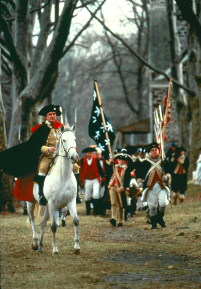 Washington Crossing Historic Park Re-enactment: General George Washington crossed the Delaware River on December 25, 1776, to launch his decisive attack on enemy forces in Trenton. Today, historical re-enacters faithfully recreate the event each year at Washington Crossing Historic Park, located about an hour north of Philadelphia. Credit: Photo courtesy of the Bucks County CVB