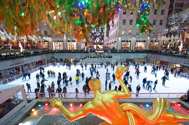 The first ice rink to open in New York City each year, The Rink at Rockefeller Center is an international destination for generations of skaters.  (PRNewsFoto/The Rink at Rockefeller Center)