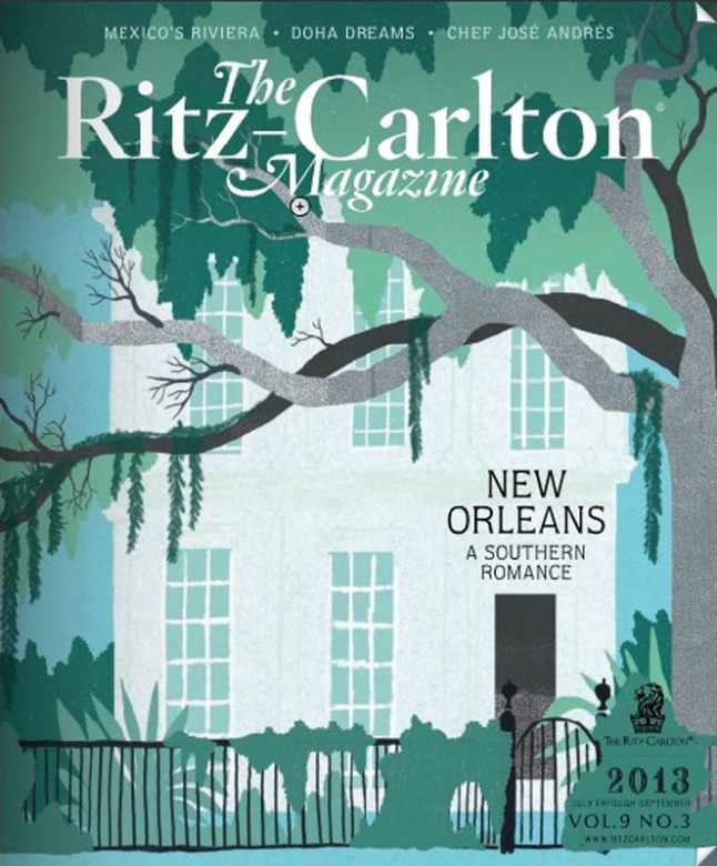 Ritz Carlton Magazine cover.  (PRNewsFoto/Treccani Milano)