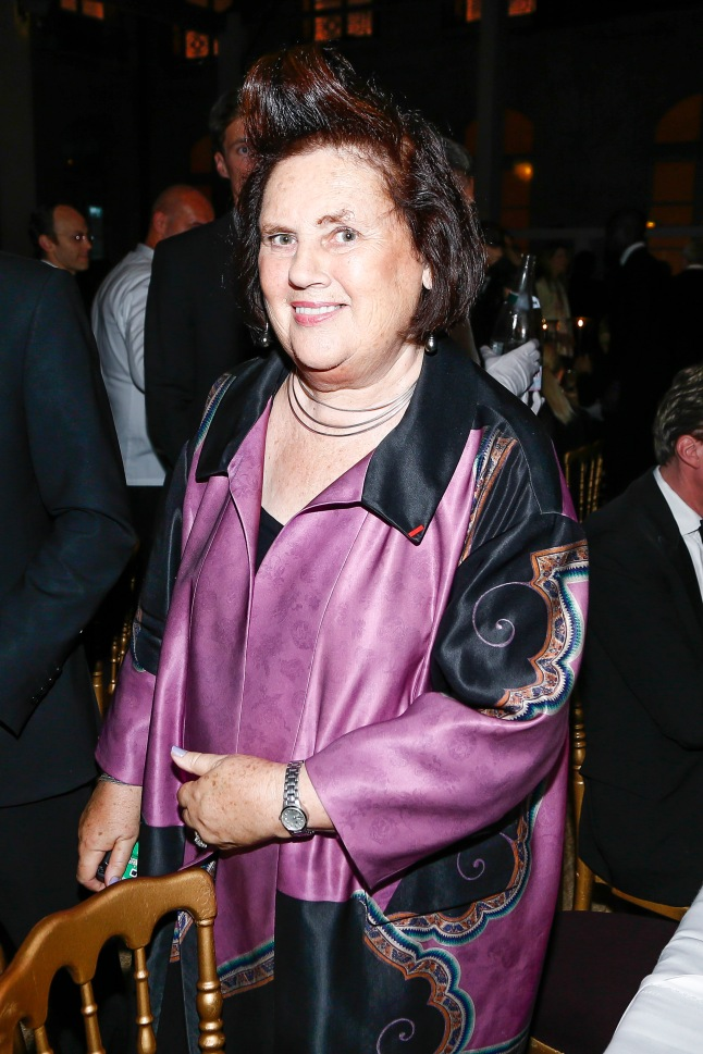 Fashion critic Suzy Menkes attends a private dinner following the presentation of the Ralph Lauren Fall 13 Collection Show at Les Beaux-Arts de Paris on October 8, 2013 in Paris, France. On this occasion Ralph Lauren celebrates the restoration project and patron sponsorship of L'Ecole des Beaux-Arts.  (Photo by Julien Hekimian/Getty Images for Ralph Lauren)