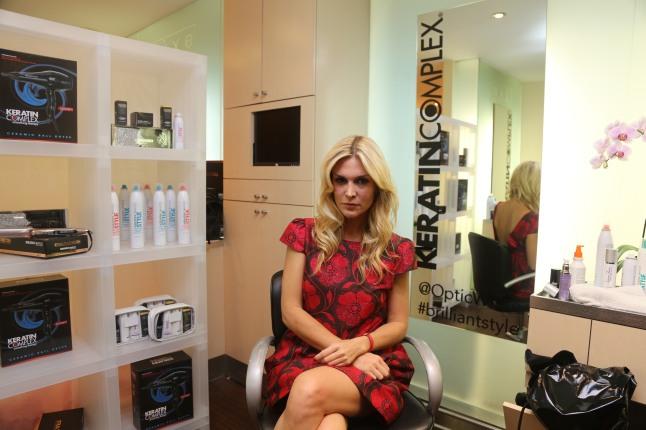 Tinsley Mortimer at the The Colgate Optic White Beauty Bar at Salon Ziba on September 9, 2013 in New York City