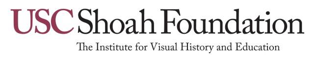 USC SHOAH FOUNDATION.  (PRNewsFoto/USC Shoah Foundation Institute)